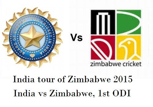 India vs Zimbabwe 1st ODI