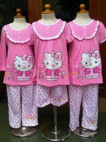 Baju Santai Anak Wanita Hello Kitty Andien Shop