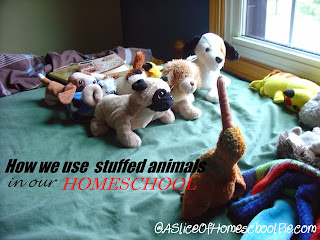 How we use stuffed animals in our homeschool