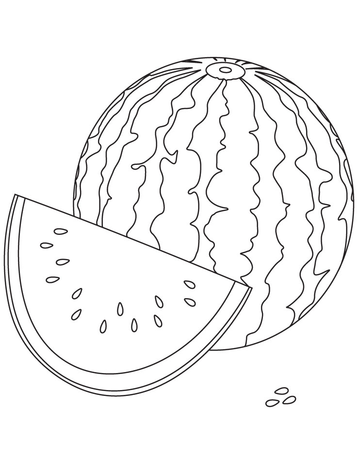 Free Fruit quot Watermelon quot Coloring sheet