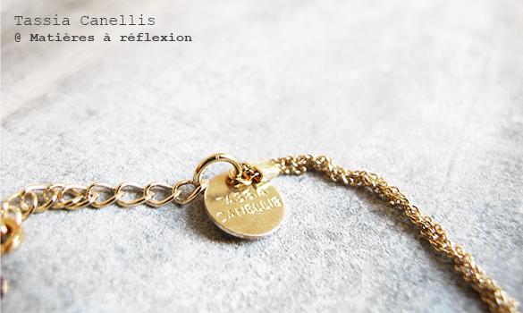 Bracelet tressé doré Tassia Canellis