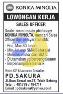 Lowongan Kerja PD. Sakura Lampung