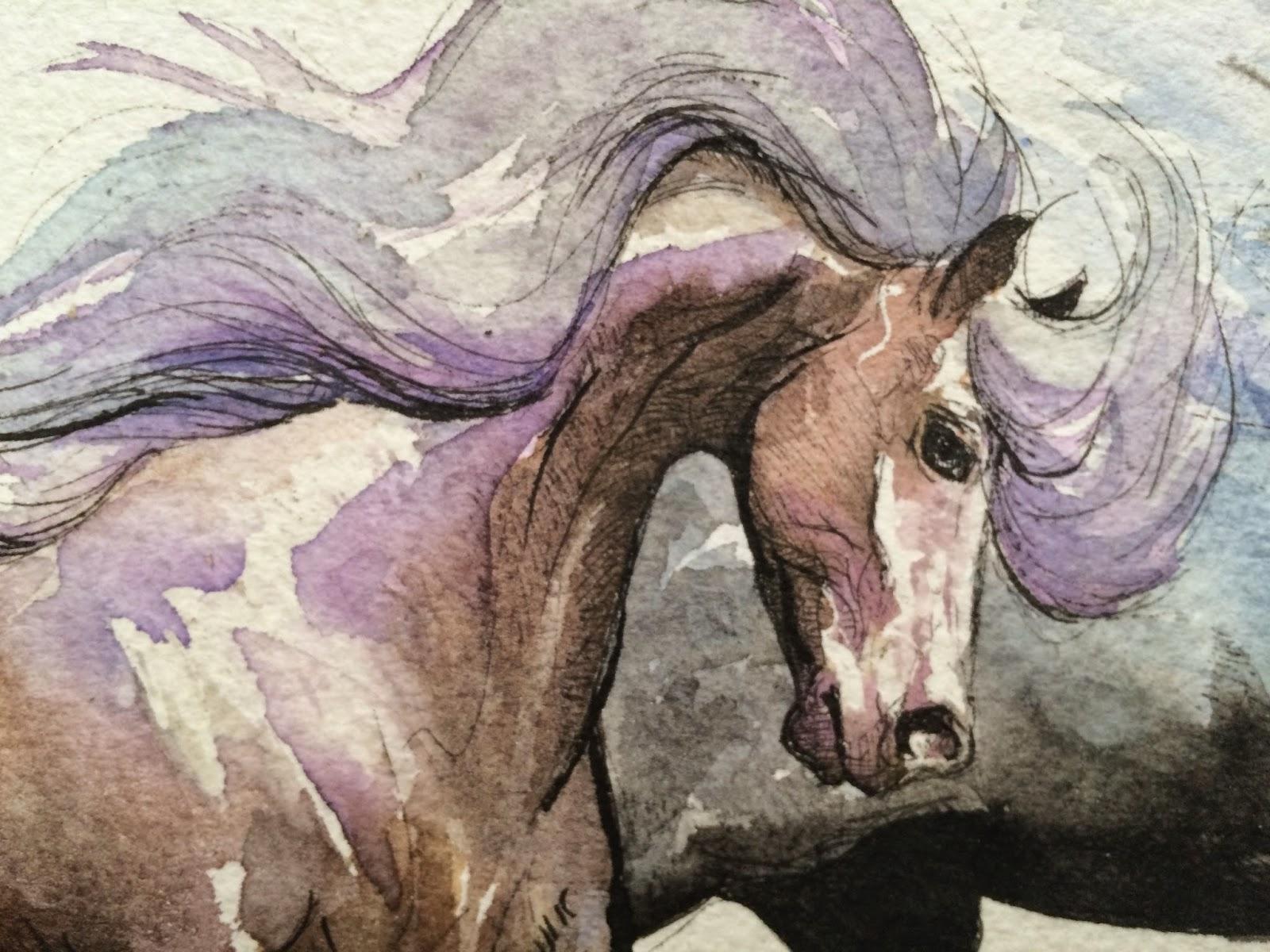 Cool   Wallpaper Horse Watercolor - TwoC%2BWC%2BhorsesProcess11  HD_85837.jpg