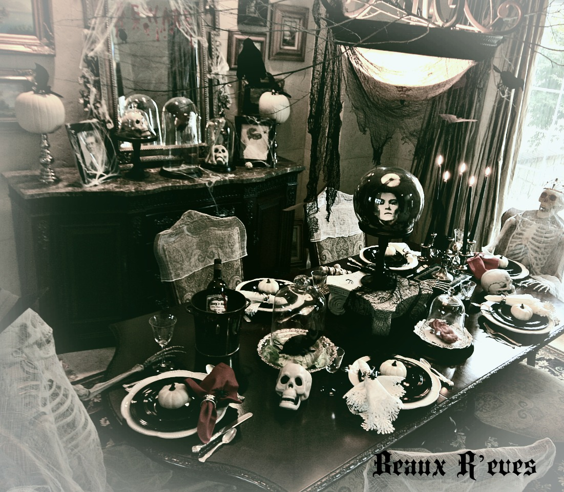 Beaux r 39 eves the haunted dining room how to 39 s for Halloween haunted room ideas