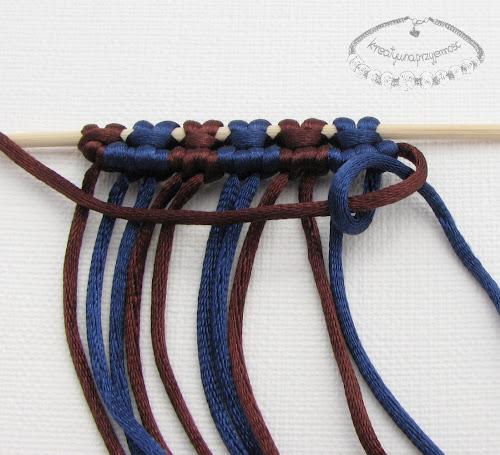 węzeł rypsowy - makrama - 15