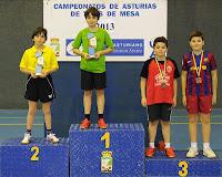 Juegos Deportivos Individuales 2013 Podio Alevín masculino