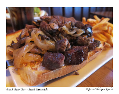 Image of Steak sandwich at Black Bear Bar and Grill in Hoboken, New Jersey NJ