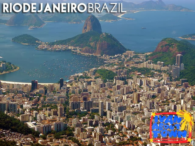 View of Sugarloaf Mountain & Rio de Janeiro from Cristo Redentor