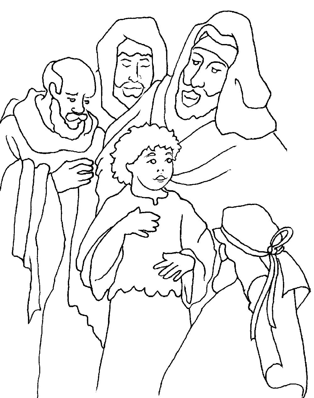Free Coloring Pages Of Presentation Of Jesus In The Temple