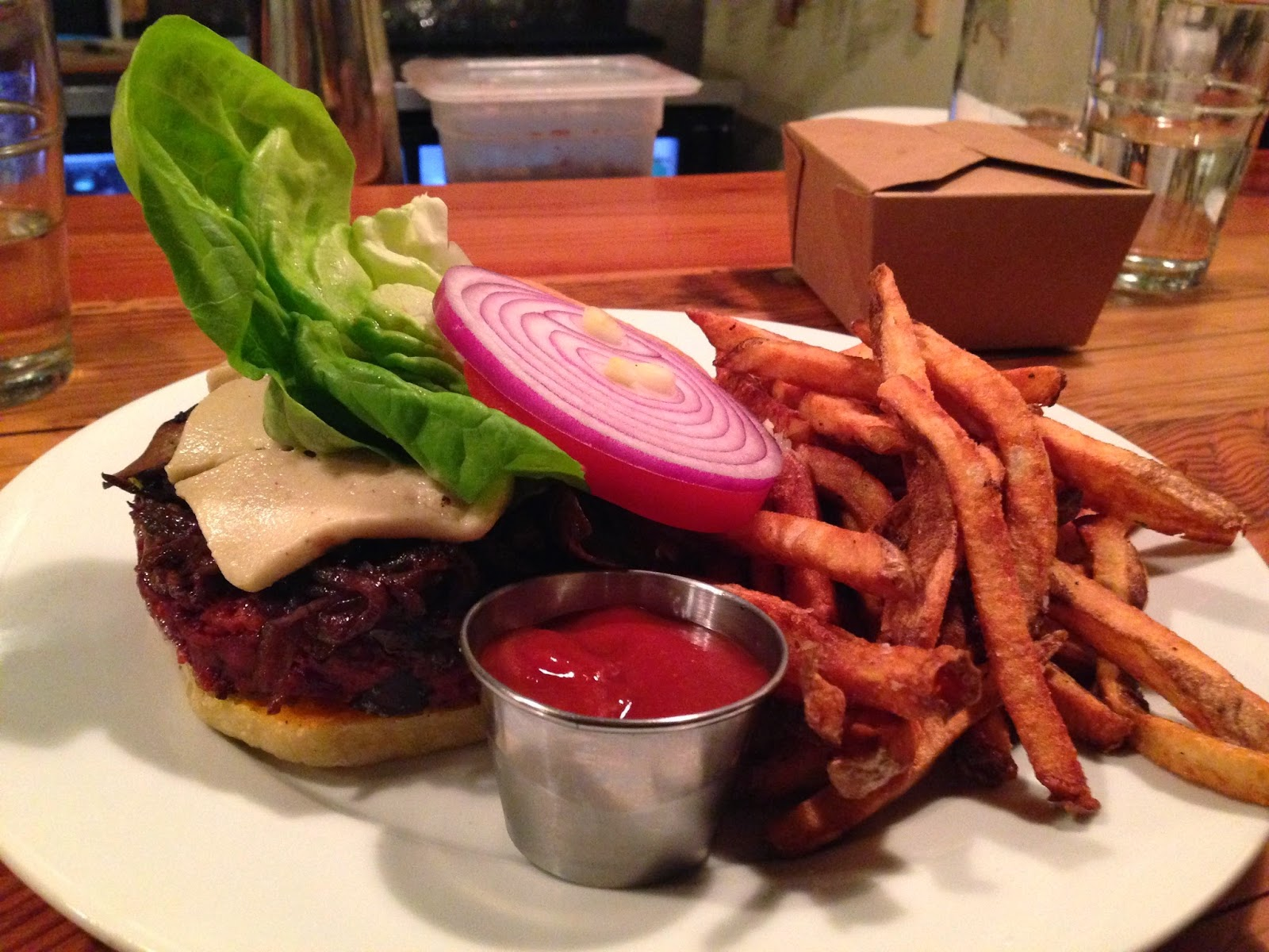 Beet Burger Royale from Portobello in Portland, OR | The Economical Eater