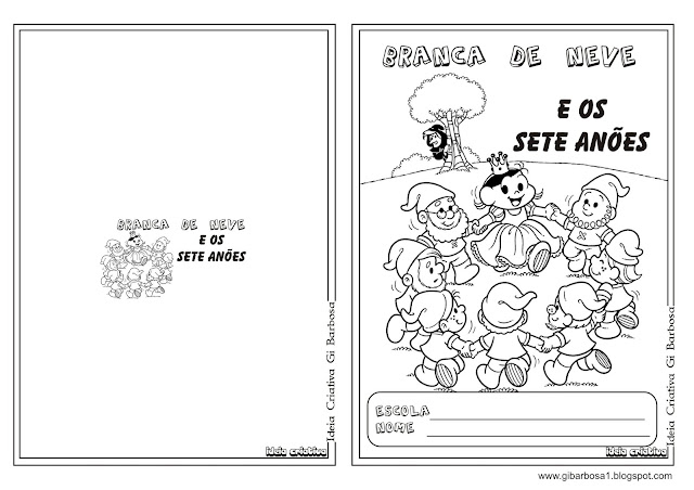 Caderno Branca de Neve  e os Sete Anões