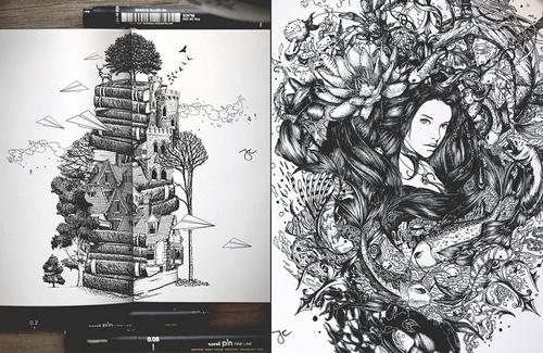 00-Joseph-Catimbang-Pentasticarts-Metaphysical-and-Surreal-Doodle-Drawings-www-designstack-co