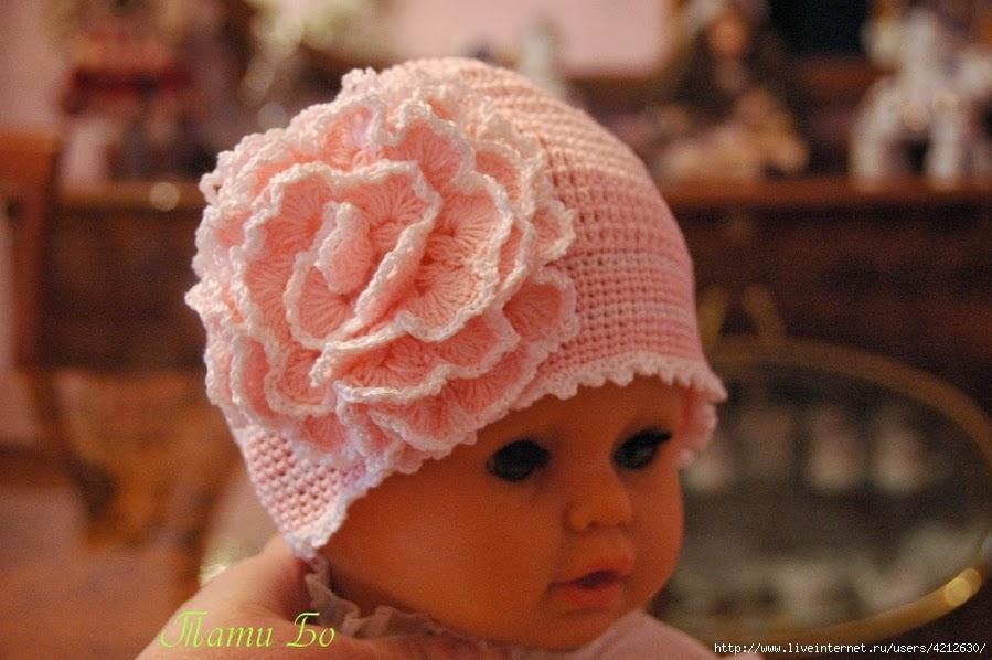 Красивые шапки для детей своими руками