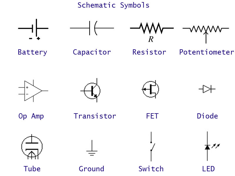 stomp box projects schematic symbols and resistor color code