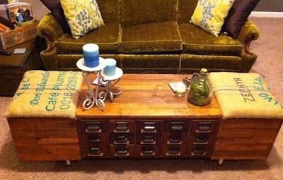 Vintage Finds Card Catalog Coffee Table Restore