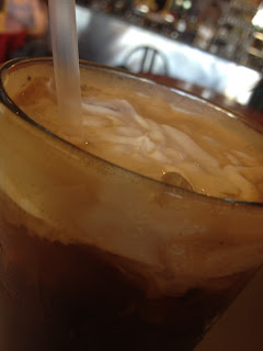 Espresso Soda from Java Joe's in Albuquerque - a mix of espresso, cream and soda water