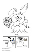 I haven't decided if I'm taking Lil to see the EASTER BUNNY. easter bunny coloring page jpeg