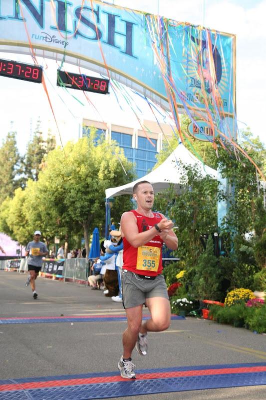 Jason Disneyland half marathon finish