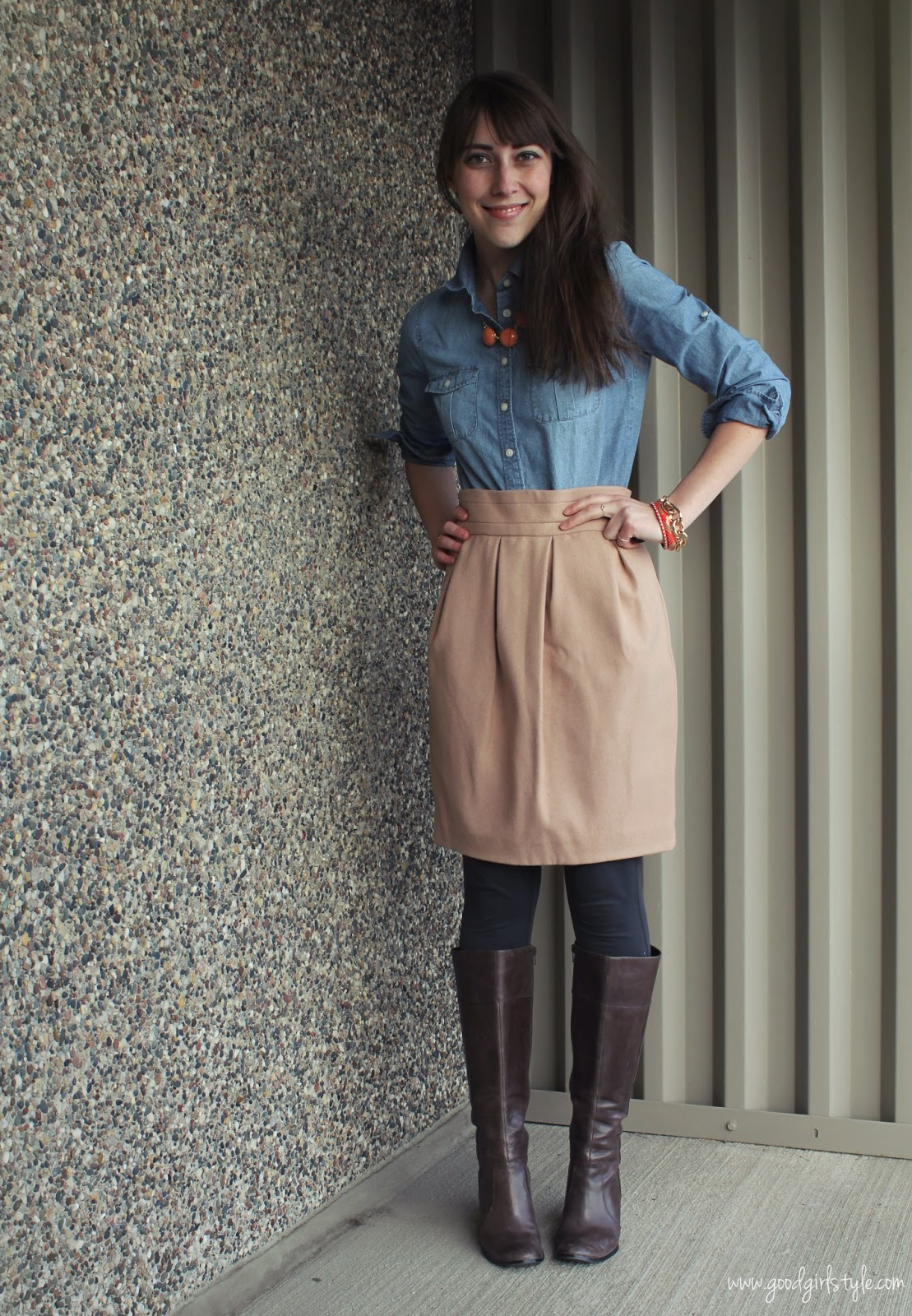 Great Pantyhose boots skirt