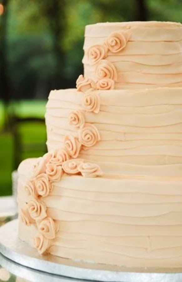 Blush buttercream wedding cake