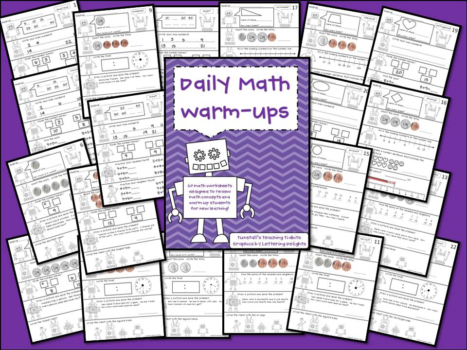 Daily Warm Ups for Math and Language! - Tunstall\'s Teaching Tidbits