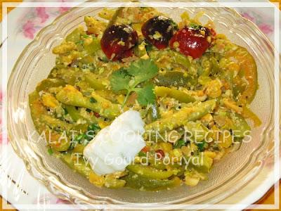 Ivy Gourd Poriyal with Bengal Gram and Curd   Kovakkai Poriyal with Kadalai Paruppu and Thayir Recipe