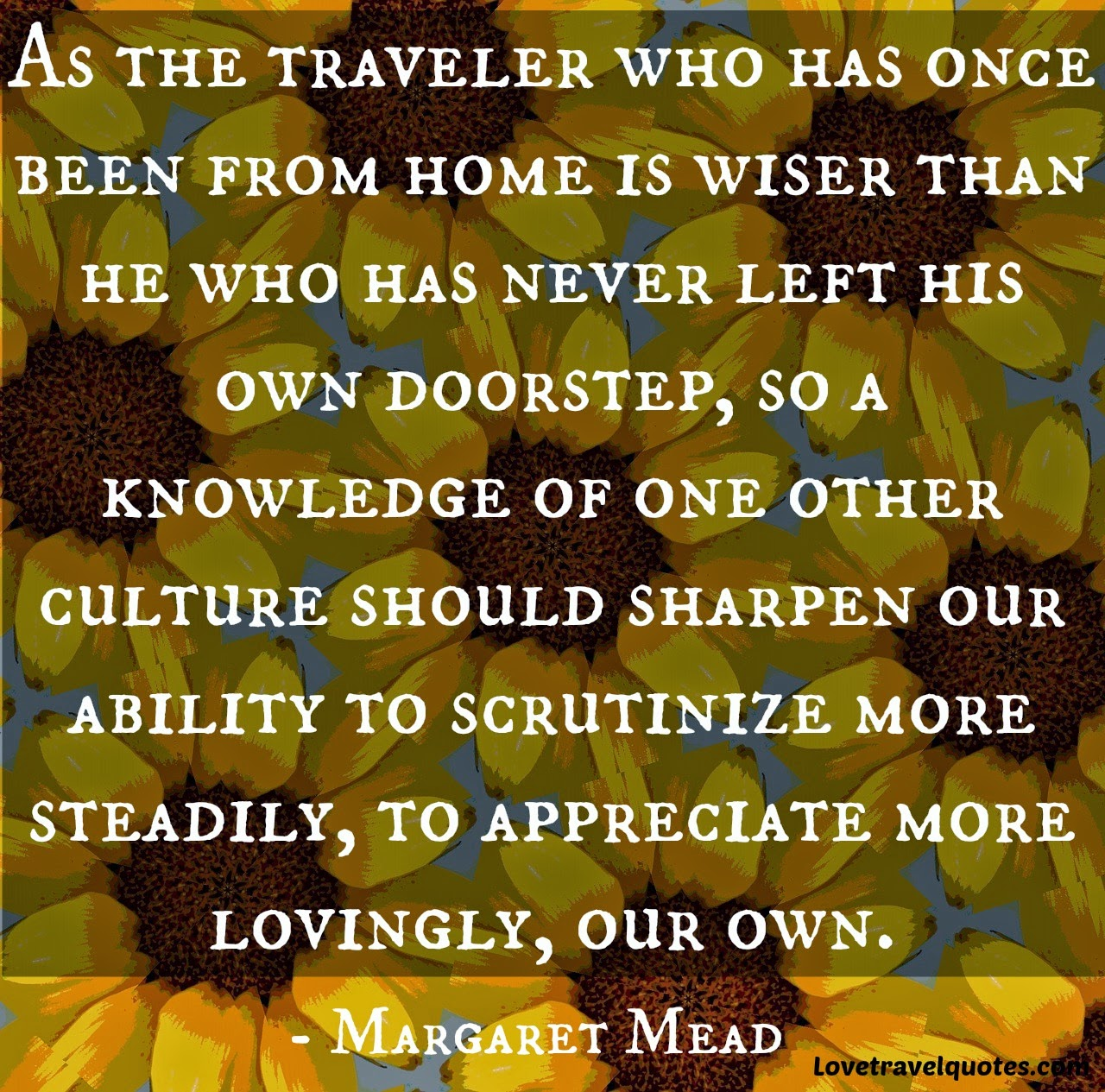 as the traveler who has once been from home is wiser than he who has never left his own doorstep