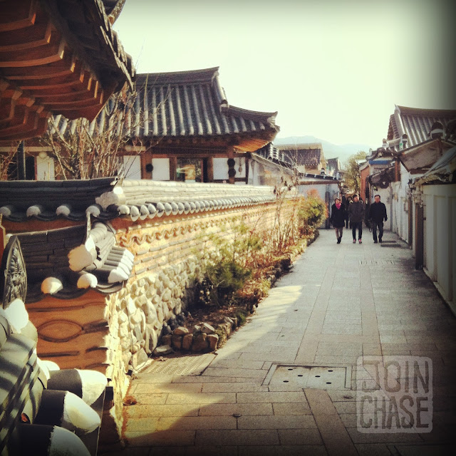 Walking around the Hanok Village in Jeonju, South Korea.