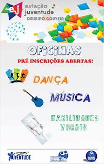 Estação Juventude abre pré- inscrições para oficinas de Dança, Músicas e Habilitades Vocais.