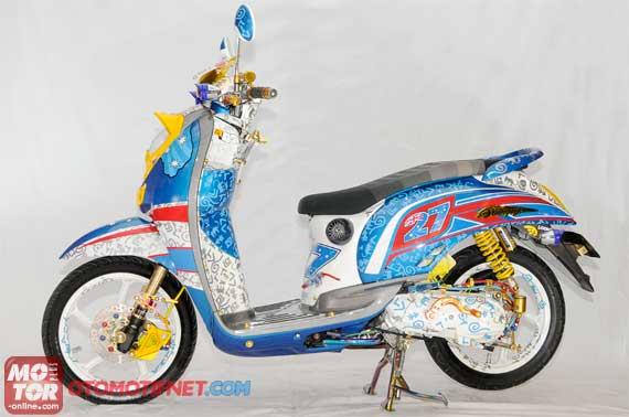 Kumpulan Modifikasi Motor Matic Honda Scoopy