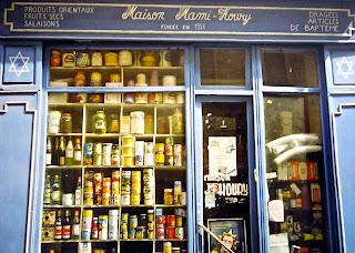 Loja judaica no bairro do Marais em Paris