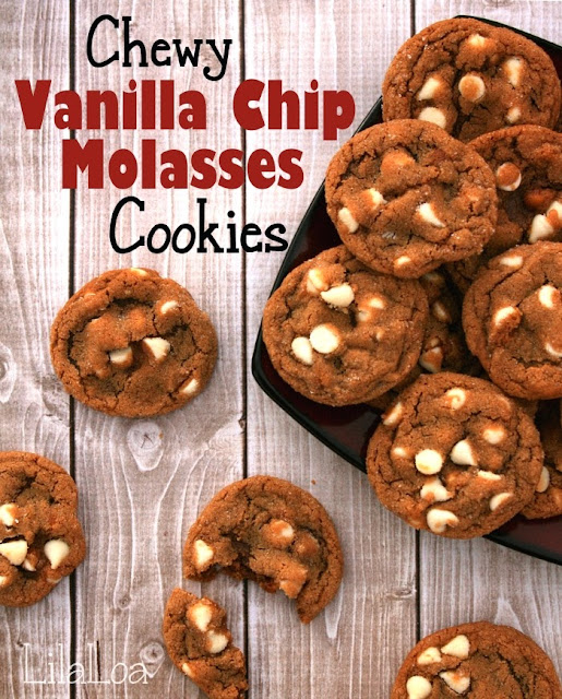 chewy white chocolate chip molasses cookies -- and a giveaway!
