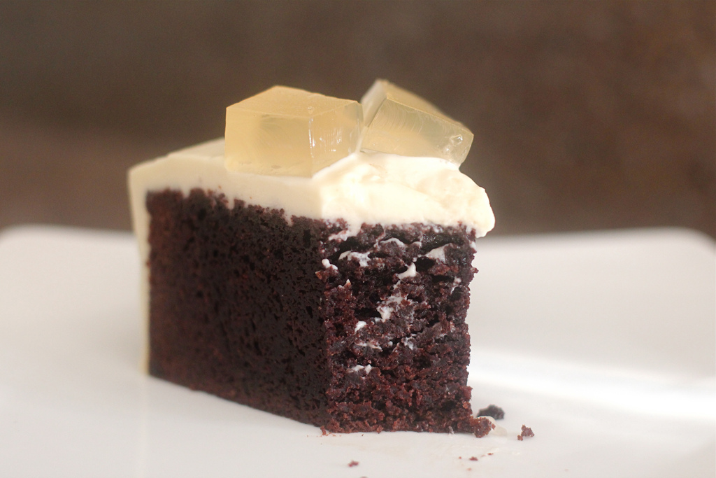 Blue Apocalypse...: Chocolate Bourbon Cake with Cream Cheese Bourbon ...
