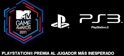 premios viaje mtv game awrds 2011 Mexico combo 3d sony, concurso Sony PlayStation Jugador Inesperado 2011 MTV Latin America 2011