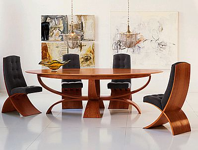 muebles modernos de comedor de madera. Black Bedroom Furniture Sets. Home Design Ideas