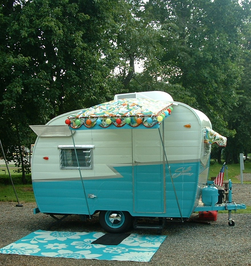 Vintage Awnings: Riverbend Vintage Trailer Rally August ...
