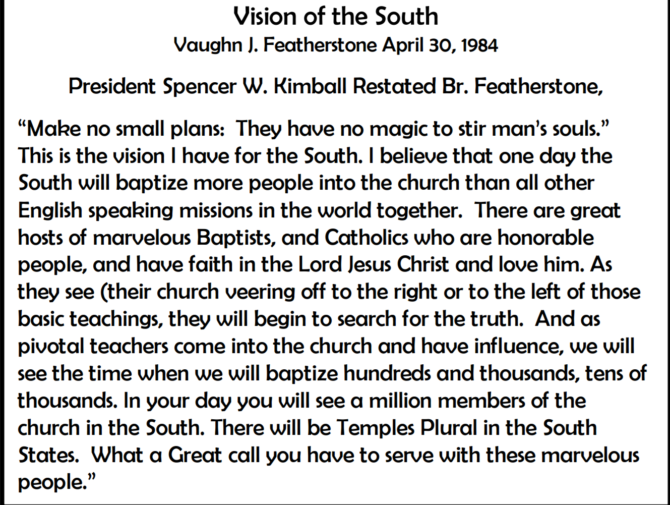 Vision of the South