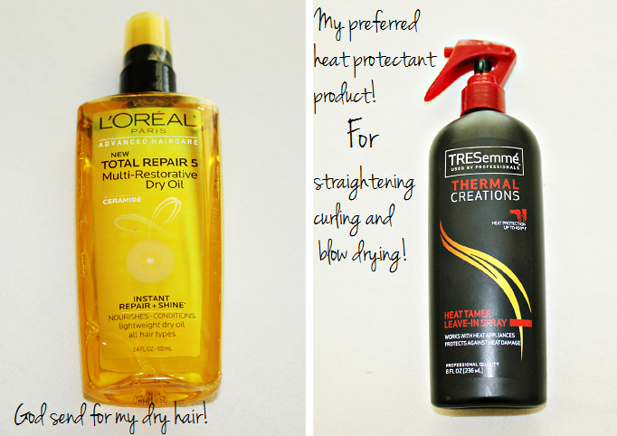 TRESemmé Thermal Creations Protective Heat Tamer Spray review, L'Oreal Total Repair 5 Multi-Restorative Dry Oil  review