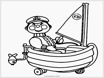 gambar mewarnai profesi pelaut