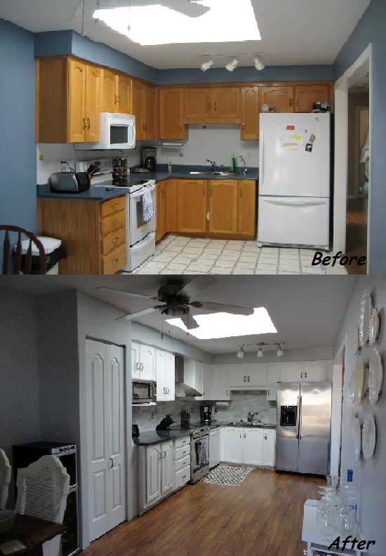 Something from nothing kitchen is finished for Diy small kitchen remodel