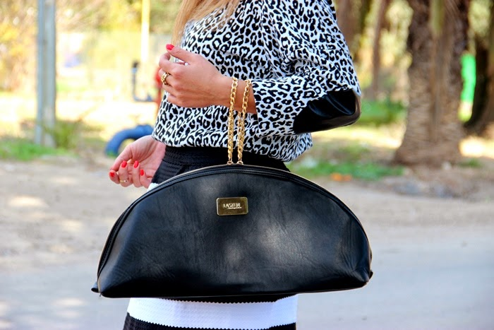 בלוג אופנה Vered'Style שחור ולבן, פסים ומנומר