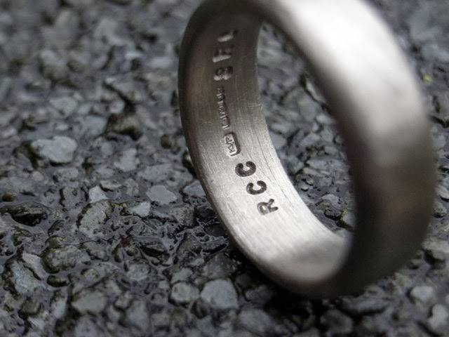 Personalised ethical 18ct white gold wedding rings