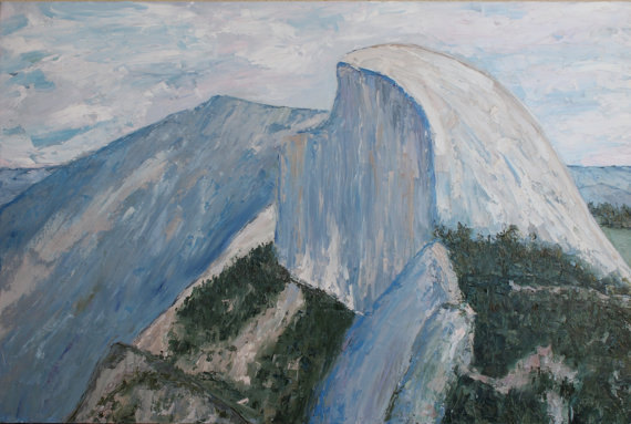Half Dome, Yosemite, Palette Knife