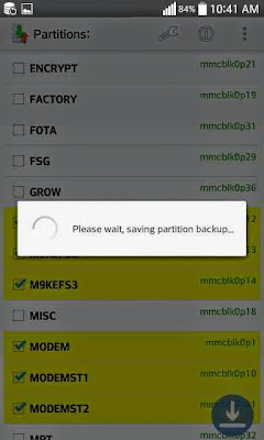 backup restore efs partitions on Samsung