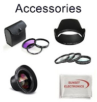 Illustration of various Canon Camera Accessories