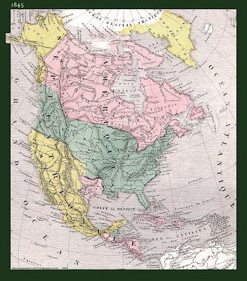 Mapa historico de America del Norte