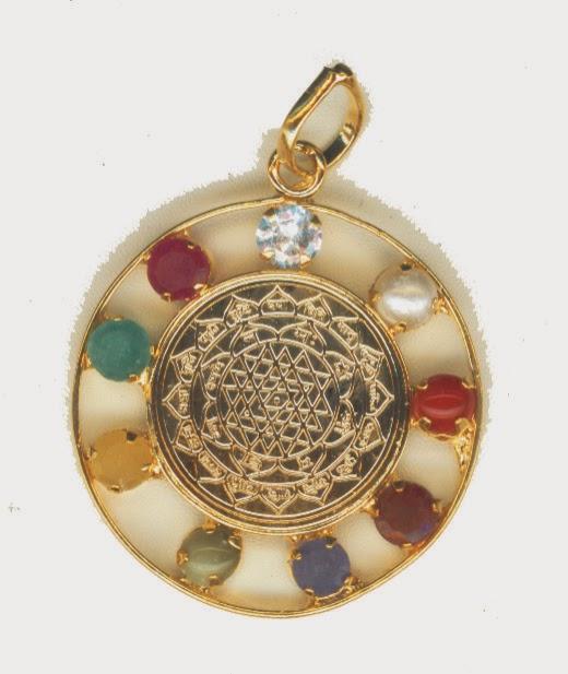 bakthi today sri yantra navarathna pendant