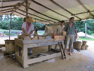 Making bricks in Colonial Williamsburg