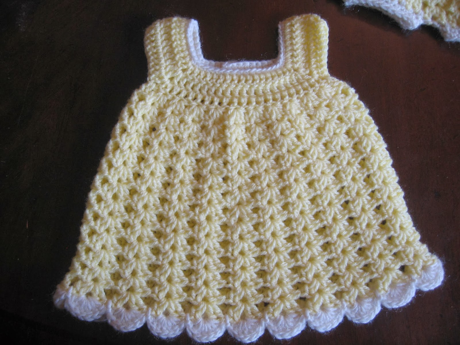 Free Crochet Baby Dress Patterns Easy : BLURT Blogger: Free Easy Baby Sundress & Bloomers Pattern