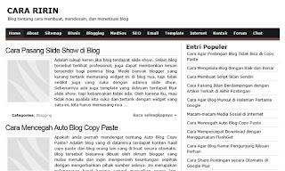 Widget Artikel Terlaris di Blog Cara Ririn
